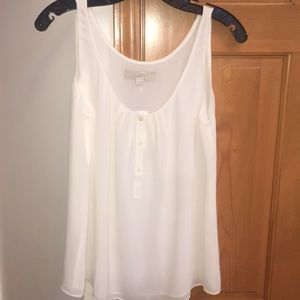 NWT Loft Cream Tank Blouse Size Small